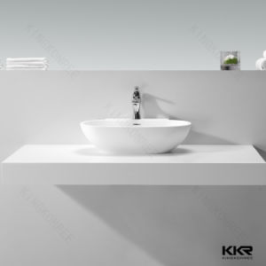 Solid Surface Artificial Stone Sanitary Ware Bathroom Wash Basin (180216) pictures & photos