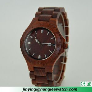 OEM Men′s and Women′s Wooden Watch Fashion Ebony Watch