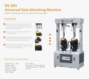Universal Sole Attaching Machine for Shoe Making pictures & photos