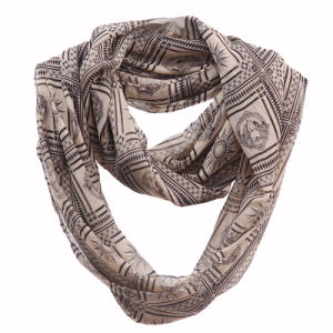 Woman Fashion Apollo Printed Polyester Chiffon Infinity Scarf (YKY1107) pictures & photos