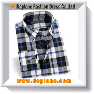 Wholesale Custom Top Quality Cotton Plaid Latest Shirt Designs for Men
