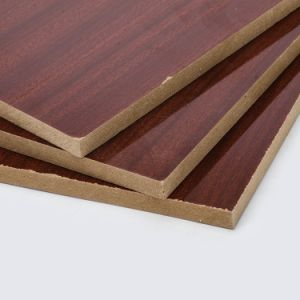 High Property Price Wood Grain Decorative Wall Panel Melamine MDF