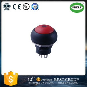Push Button Switch 12 mm Hole Without Light Automobile Electric Vehicles Dedicated PA Button Switch, Push Button Switch with LED pictures & photos