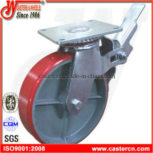 8 Inch PU Scaffold Caster with Top Plate pictures & photos