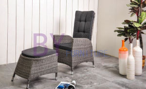 by-446 Outdoor Balcony Rattan Adjustable Seat Back Lounge