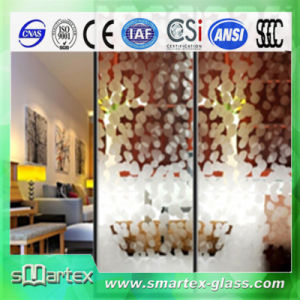 4-12mm Acid Etched Patterned Glass with CE SGS