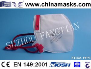 Ffp3 Dust Mask Disposable CE Face Mask Security Respirator