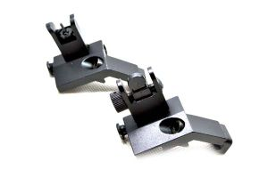 Hot Sale Ar 15 Front and Rear Flip up 45 Degree Rapid Transition Backup Iron Sight pictures & photos