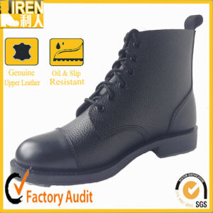 Parade Styleshining Patent Front Great Leather Outsole Ankle Military Police Boot pictures & photos