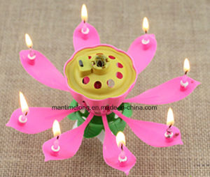 Lotus Flower Candles Happy Birthday Romantic Party Gift Light