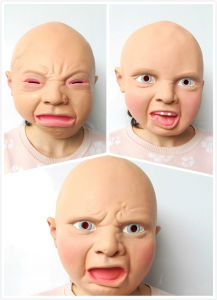 Popular Baby Mask, Scary Mask for Halloween