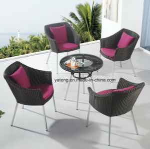 Good Quality New Design Synthetic Rattan Aluminum Furniture Outdoor Garden Coffee Set Yt940 1