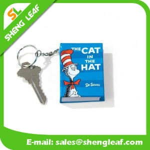 Factory Hot Sale 3D Soft PVC Keychain with Notebook Shape