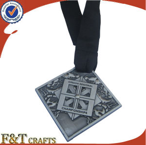 Hot Sell Factory Price Custom Antique Sport Metal Medal with Ribbon pictures & photos