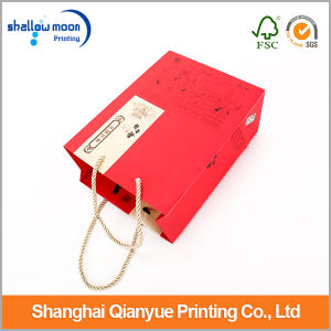 China Red Paper Bags with Handle