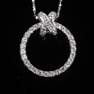 Bling Brilliant Round Fashion Hallow Cubic Zirconia Silver Jewelry pictures & photos