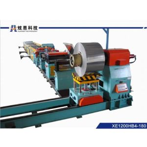High Speed Steel Sheet Scroll Cutting Line of 180m Per Minute with 4 Stackers Xe1200hb4-180