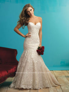 Sweetheart Lace Bridal Gown Wedding Mermaid Dress pictures & photos