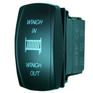 Laser Blue Momentary Rocker Switch Winch in/out 20A 12V (ON) -off LED Light pictures & photos