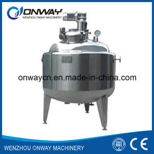 Pl Stainless Steel Jacket Emulsification Mixing Tank Oil Blending Machine Storage Tank with Agitator