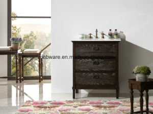 Single Mirror and Single Sink Modern Bathroom Cabinets/Simple Solid Wood Home Furniture