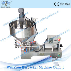 Table Type Thick Sauce Filling Machine with Heater and Mixer pictures & photos