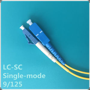 LC-Sc PC Single-Mode Fiber Optic Patch Cord pictures & photos