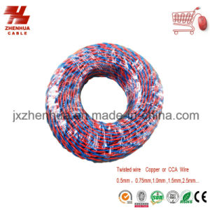 Electric Wire Two Core Twisted Wire and Cable Rvs Soft Wire 300/300V pictures & photos