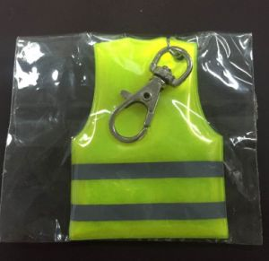 Soft PVC Light Reflection Safety Vest Key Ring pictures & photos