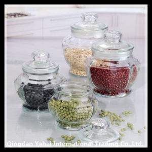 800ml Glass Beans Storage Jar with Glass Lid pictures & photos