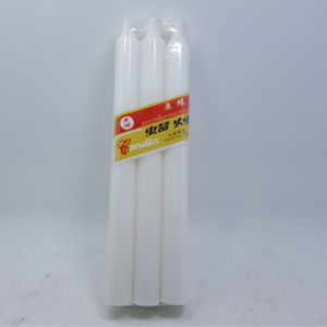 Dinner Straight Pkt 6 White Candle 85g pictures & photos