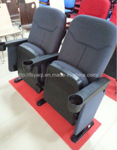 Popular Design Fixed Cinema Film Chairs with Cup Holders Theater Furniture (YA-210E) pictures & photos