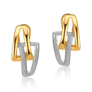 2018 Costume Jewelry Latest Designs Two Tone Gold Earring For Women