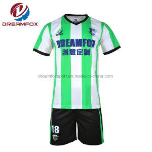 5da366b1a Custom Stripe Soccer Unifroms Sportswear Cool Sublimation Soccer Jersey