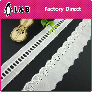 Embroidery Technical 100% Cotton White Lace Trimming pictures & photos