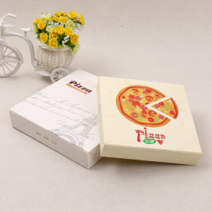 china 9 full color printing white cardboard takeout paper pizza box