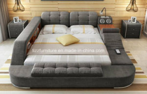 Modern Bedroom Furniture Functional Fabric Futon Bed