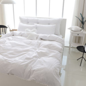 China Luxury King Size White Cotton Quilt Cover Pillow Cover