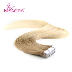 K. S Wigs New Virgin Remy Hair European Tape Hair