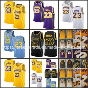 buy popular b1ff8 bd48a Lebron James Wish Basketball Jerseys Yellow White Purple Black