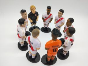 Popular Soccer Figurine Toys for Children Gift Whole Peru Team Toys for Promotion
