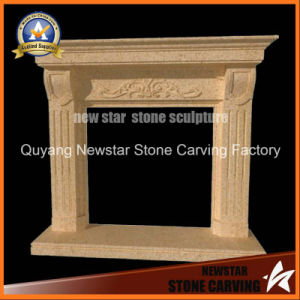 Limestone Fireplace Surround Sandstone Fireplace Mantel pictures & photos