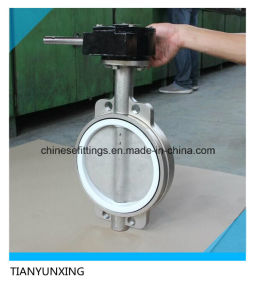 PTFE Seat Stainless Steel Butterfly Valve pictures & photos