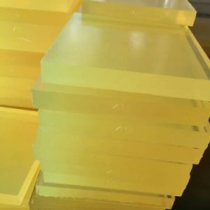 Yellow Transparent Color Polyurethane Sheet, PU Sheet Made with 100 % Virgin Polyether Material pictures & photos