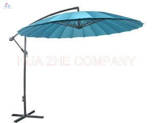3m Fiber Glass Hanging Umbrella Garden Parasol Outdoor Umbrella