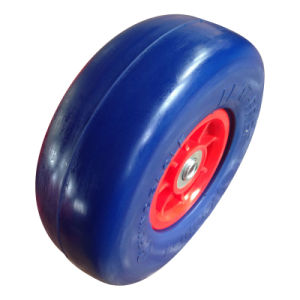 "9 Inch 9""X3.50-4 Flat Free PU Foam Wheel pictures & photos"