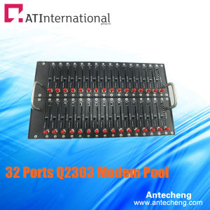 32 Channels with 32 SIM Card 900/1800MHz Bulk SMS Modem Pool
