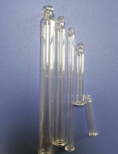 Clear Tubular Straight Round-Ball Glass Tube for Cosmetic Packing