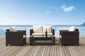 Garden Furniture Outdoor Rattan Sofa and Table Set (BZ-SF006)