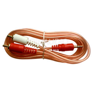Audio Cable RCA Cable Transparent Cable 2RCA To3.5 Stereo (2R-1ST 1.5M) pictures & photos